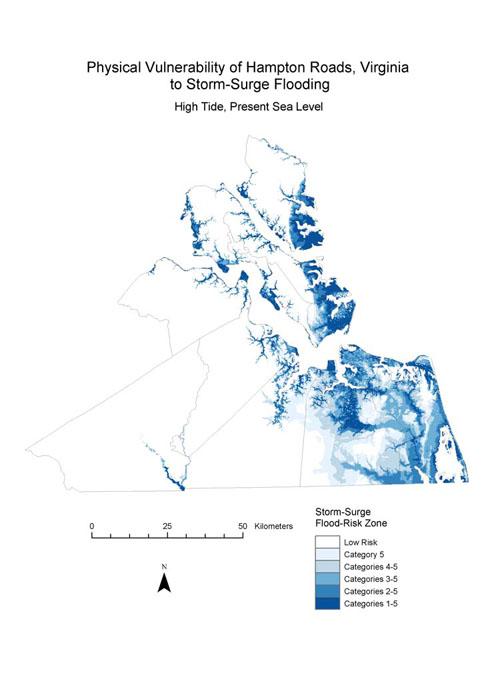 hampton roads flood map