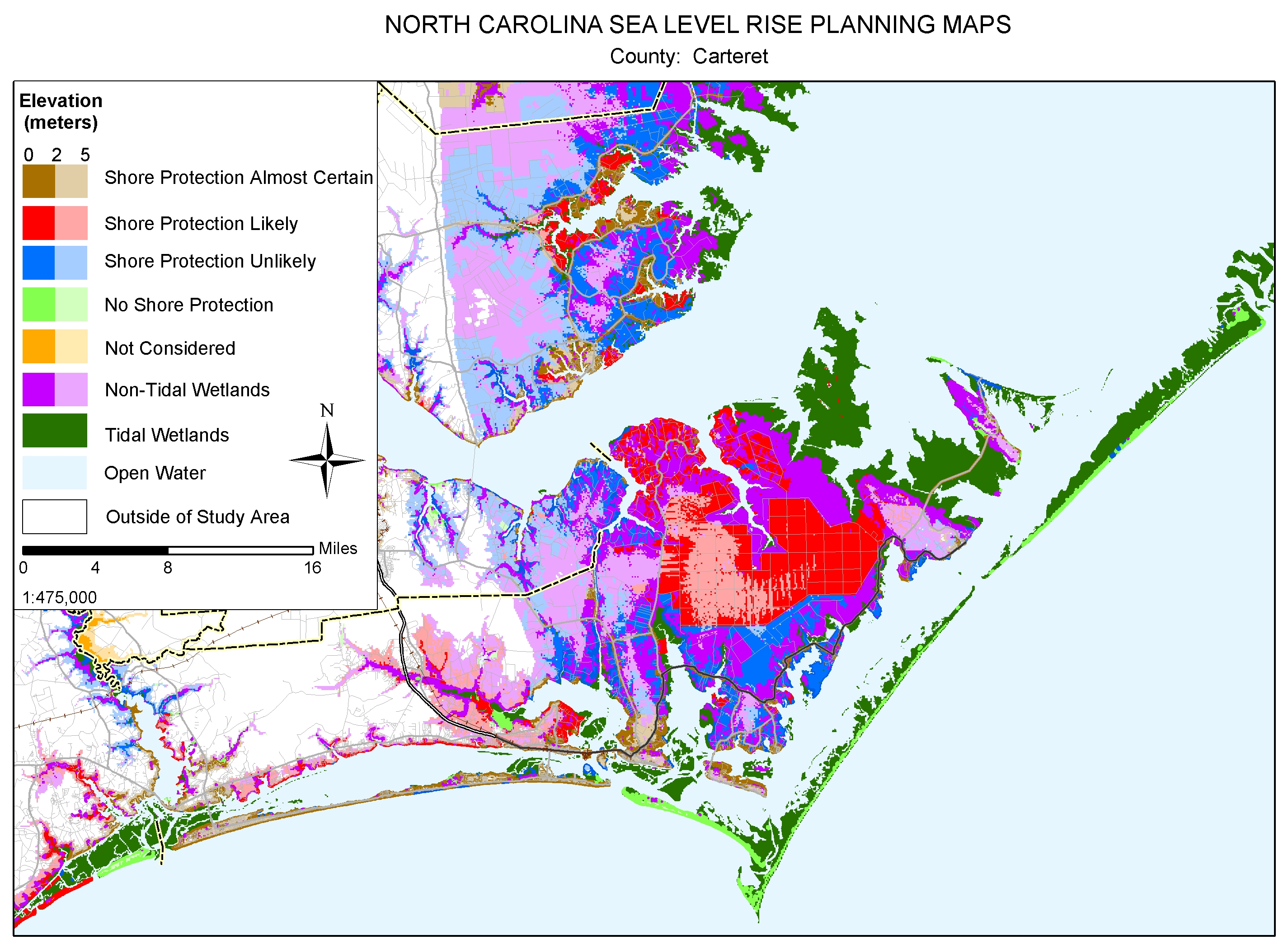 Sea Level Rise Planning Maps - Elevation above sea level by zip code