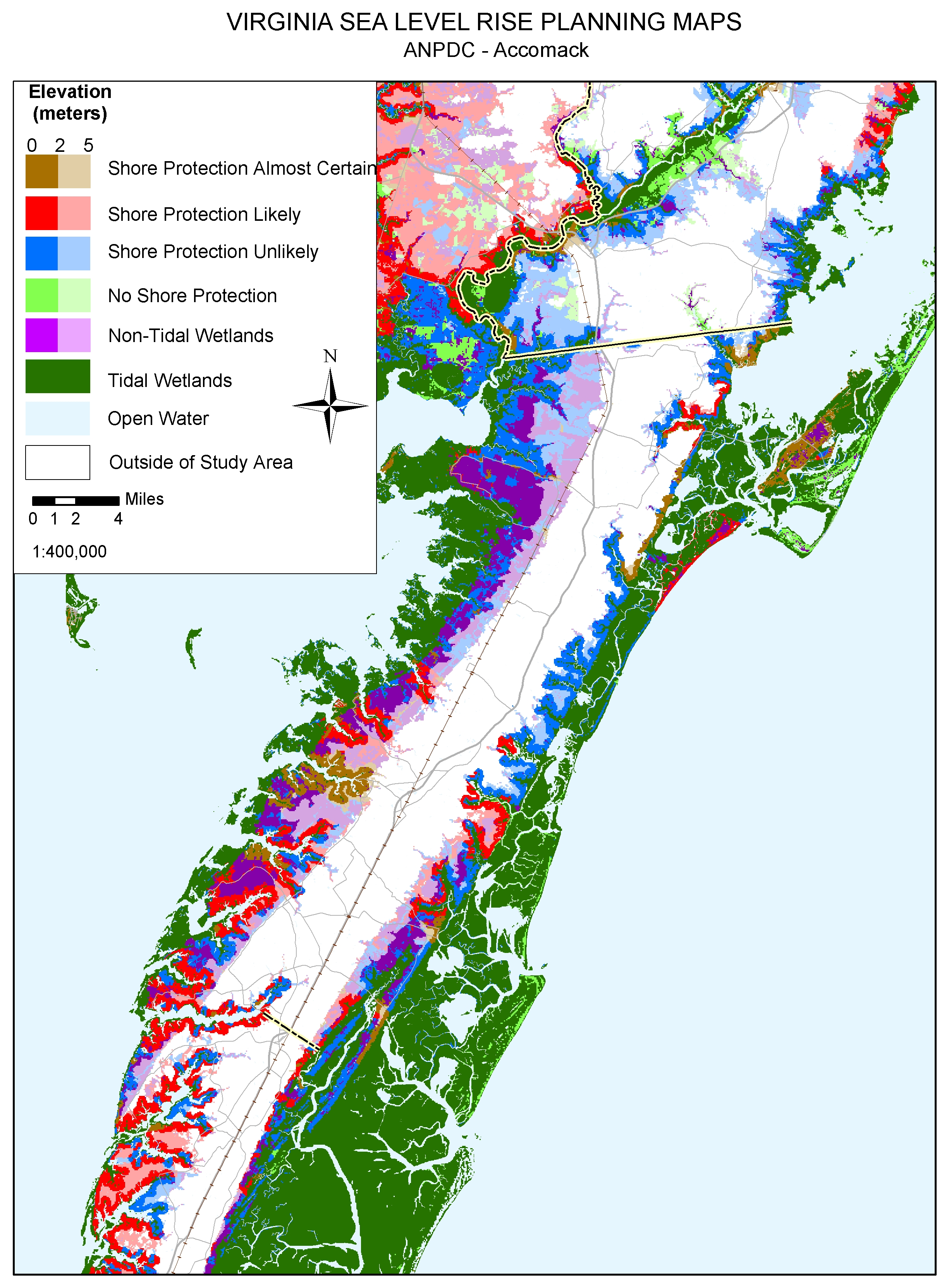 Tangier Island Virginia Map.Sea Level Rise Planning Maps