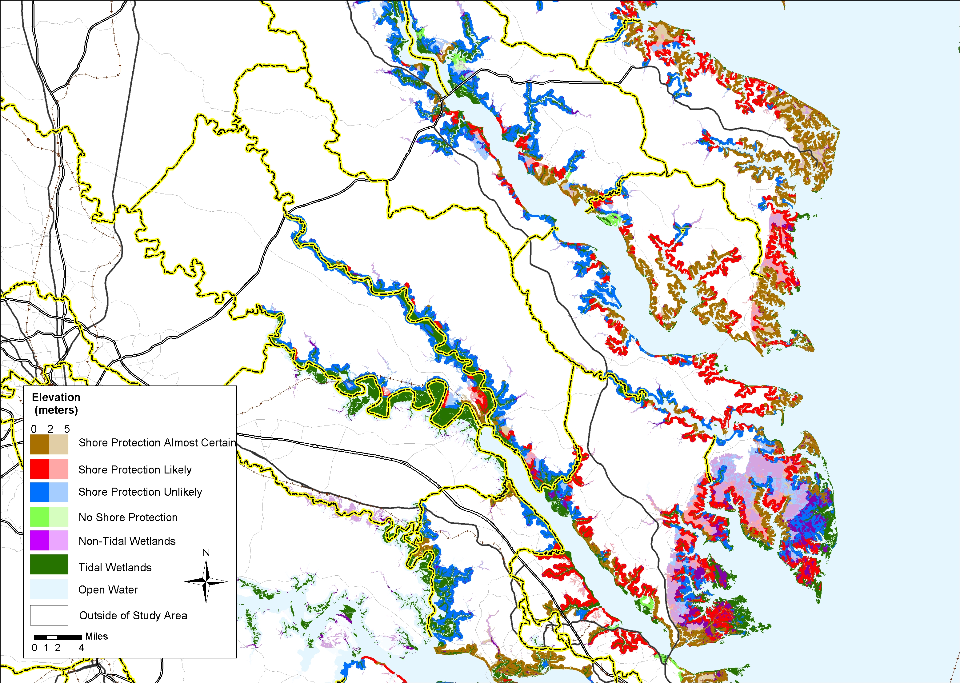 Sea Level Rise Planning Maps - Maps of virginia