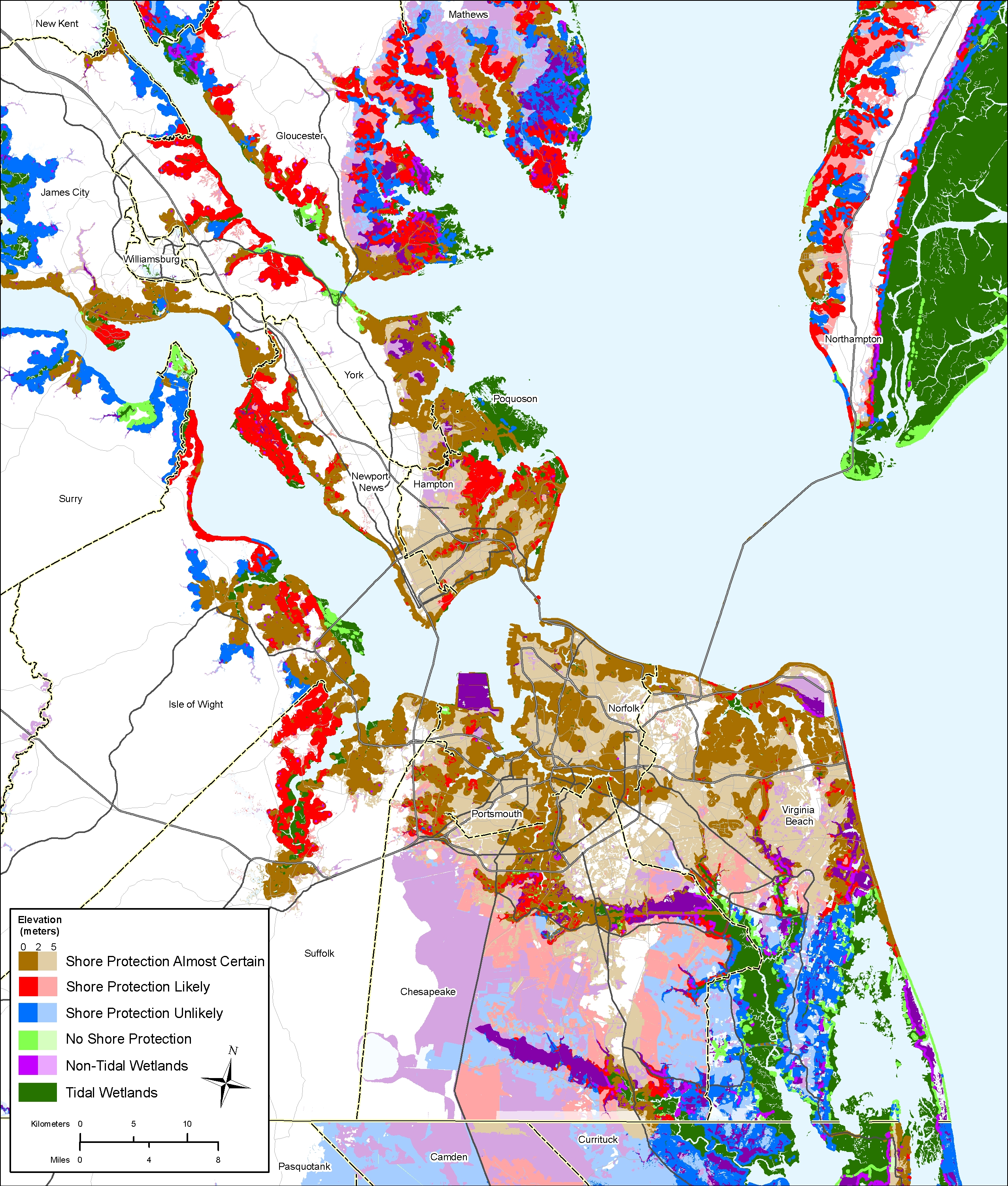 Gloucester Virginia Map.Sea Level Rise Planning Maps