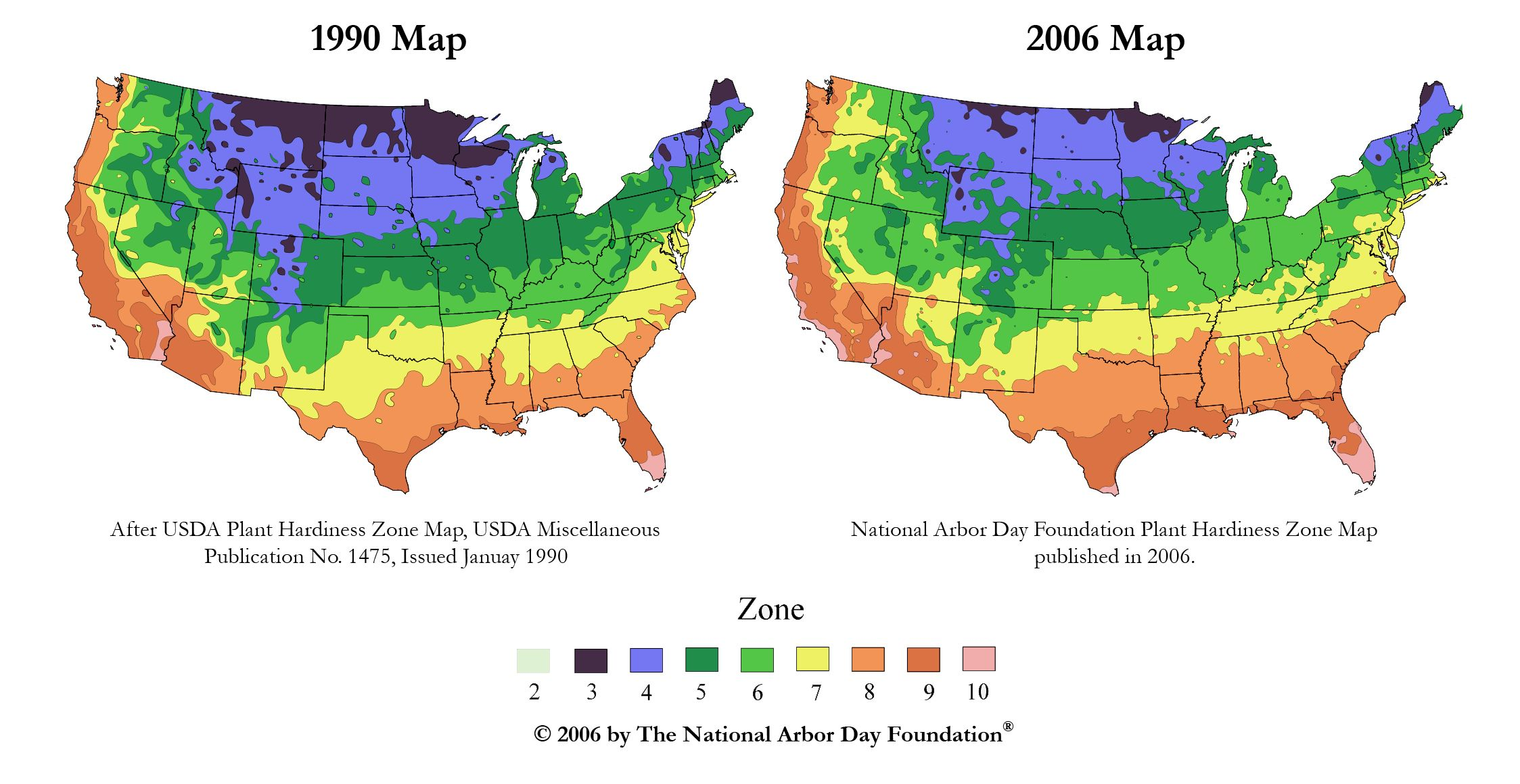 Climate Change Impacts In Virginia - Planting zone map of us