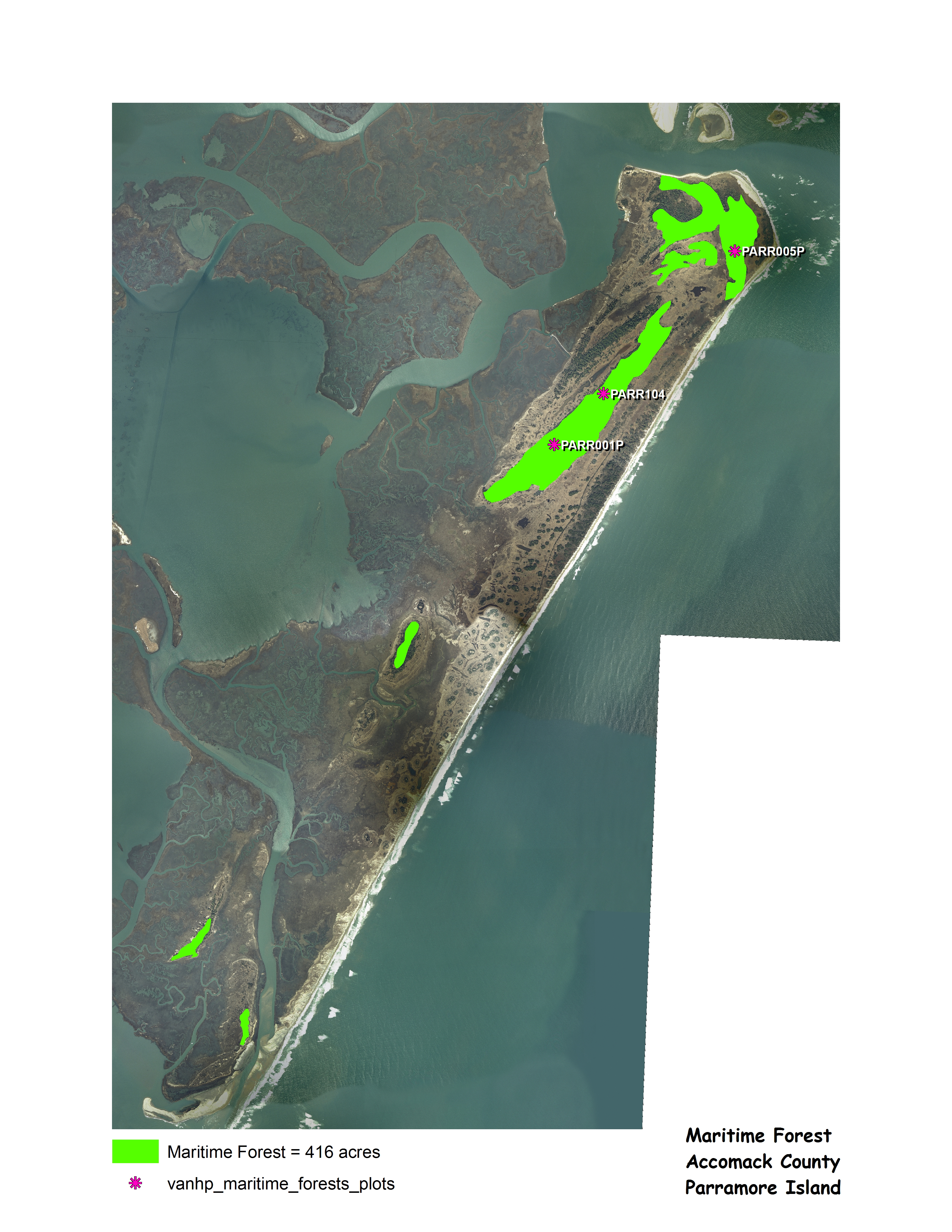 Parramore Island Map