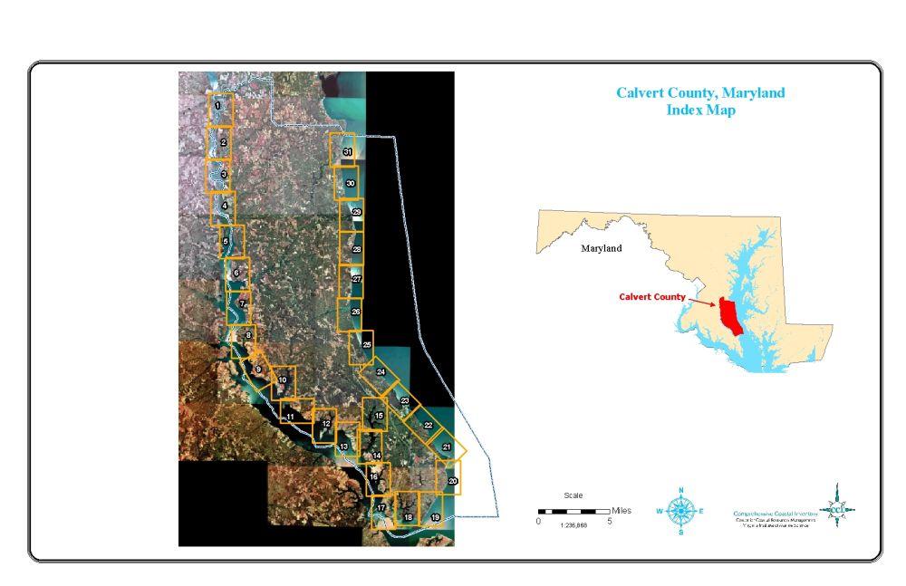 Calvert County Maps